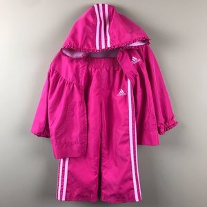 Girls Adidas Pink Windbreaker Track Suit 2T